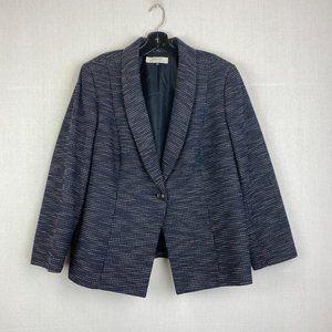 TAHARI Textured with Body & Sleeve Lining Blazer